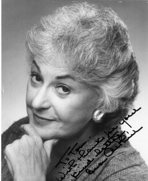 Beatrice Bea Arthur Autograph