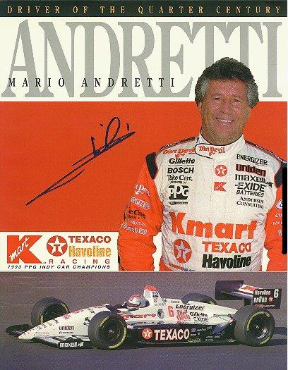 Mario Andretti Autograph