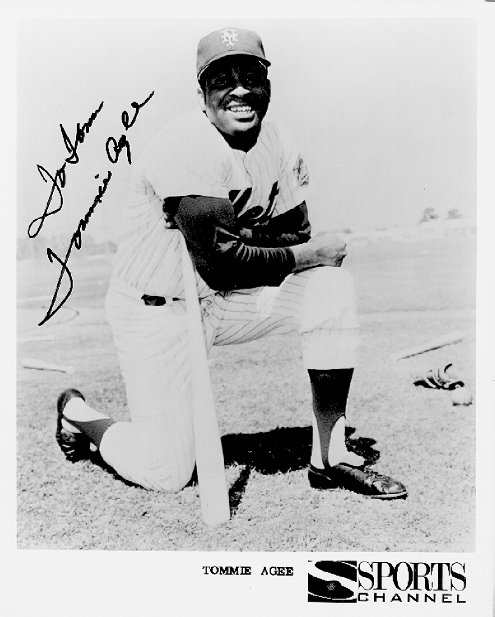 Tommie Agee Autograph